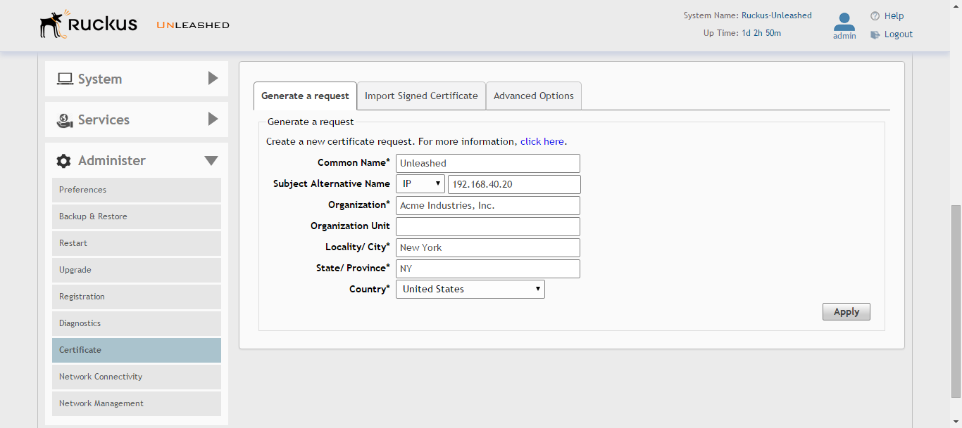 Creating A Certificate Request File